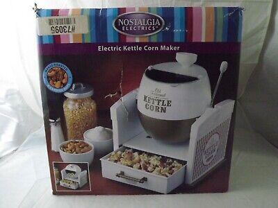 Rare New Open Box Nostalgia Electronics Electric Kettle Corn Maker PKC200