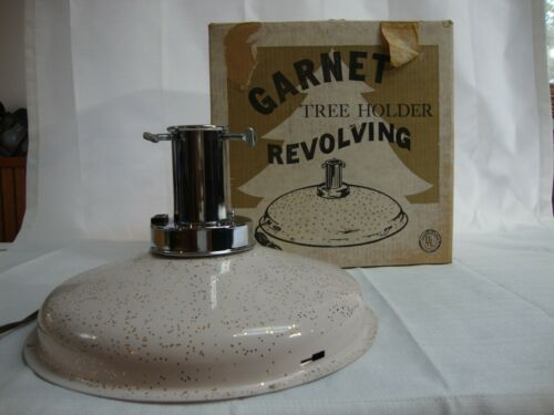 Vintage Garnet MCM Mid-Century Revolving Christmas Tree Stand