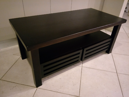 Large Coffee table black brown