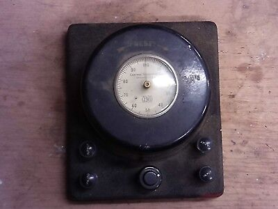 Vintage Cenco Central Scientific Company Electrical Meter 73511 0-100