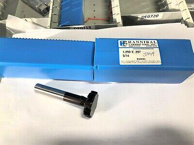 Hannibal Carbide Tool Keyseat Cutter 1.250 X .297 514 New