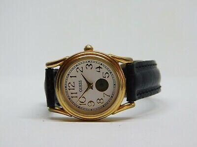 Vintage Guess 1991 Genuine Leather Quartz Analog Ladies Watch