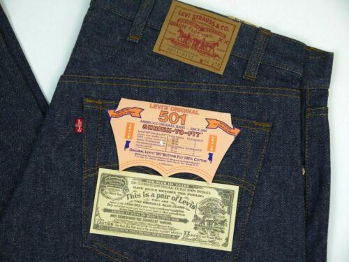 Vintage Levis NOS 501-0117 Dark Jeans Mens 44x38 Deadstock 80s Denim NWT 3501