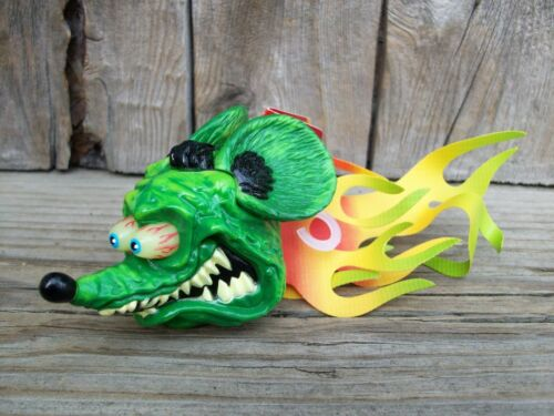 Ed Big Daddy Roth Rat Fink Flames Antenna Topper Auto Car Truck Hot Rod NOS Tags