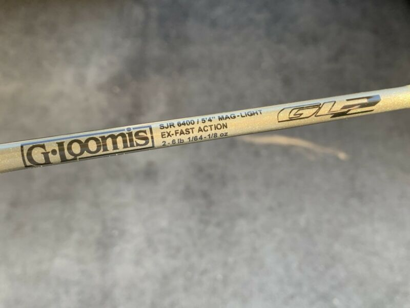 "G.Loomis GL2 SJR 6400 5'4"" Mag-Light Ex-Fast Spin Jig Spinning Rod *Never Used**"