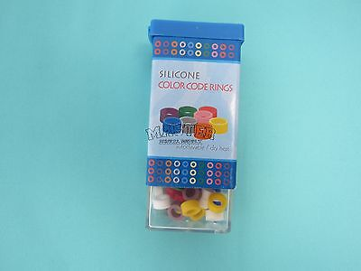 Dental Silicone Rings For Instruments Identification Small Size 80 Pcs Assorted