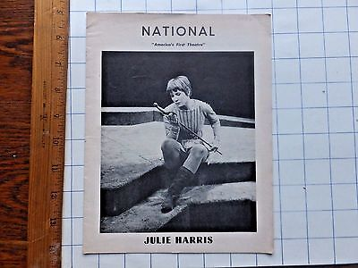 1956 National Theatre Program, Washington, D.C. Julie Harris Cover. The Lark.