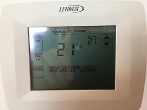 Lennox touch screen thermostat