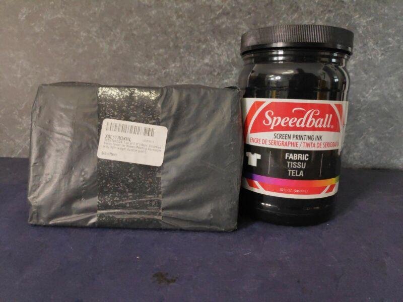 "Speedball Fabric Screen Printing Ink, Black 4600 plus 5.9"" Emulsion Scoop Coater"