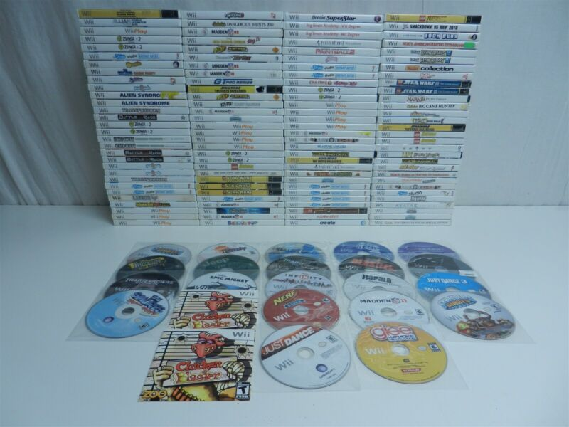 Lot of 143 Nintendo Wii Games - Create, Resident Evil 4, Just Dance