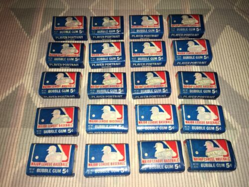 1979 Major League Baseball Gum Unopened Sealed Lot Pieces w/ 20 Different Comics