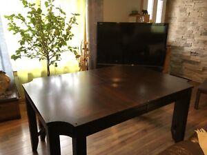 Ensemble de salle à manger / table-6 chaises-verre de protection