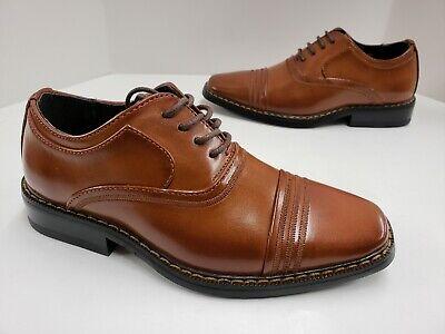 Kids Stacy Adams Bingham Cap Toe Lace Up Oxford Dress Shoes Cognac 43380 221 Lace Oxford Cap