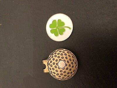 New Lucky Irish SHAMROCK  Flat Magnetic GOLF HAT CLIP Ireland Ball Marker