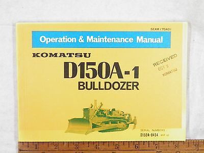 Komatsu D150a-1 Operation Maintenance Manual 8454-