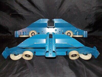 New Set Of 2 Blue Gorbel Inc. Crane End Truck Trolleys Ms5180