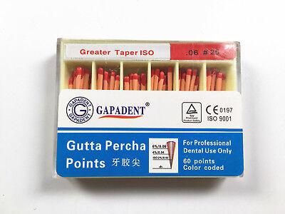 25 Dental Gutta Percha Points 06 Taper Root Canal Treatment 1 Box
