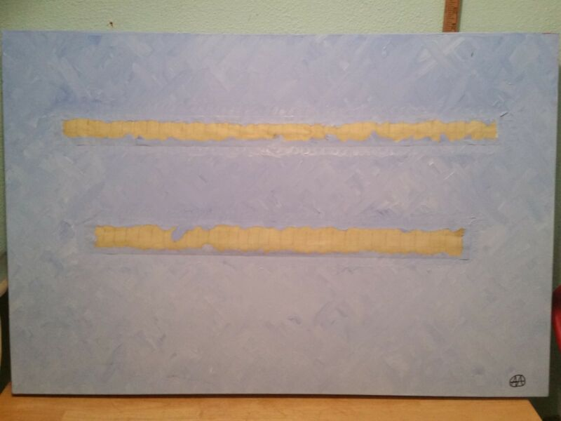 EARLY WORK SIGNED PAINTING MINIMALIST MIXED MEDIA 2006 CALIFORNIA ARTIST VTG