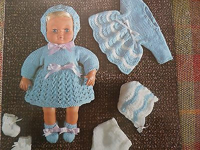 Knitting Pattern Dolls Clothing To Fit a Tiny Tears sized Doll DK Vintage