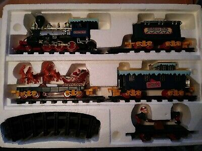 North Pole Christmas Express Animated Musical Train Set Box Vintage Tested Video