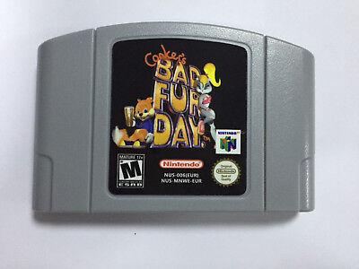 Bad Fur Day Game Cartridge Consoles PAL EUR Version For Nintendo N64 comprar usado  Enviando para Brazil