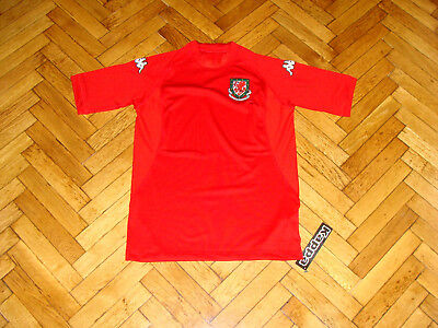 Wales Soccer Jersey Cumry National Team Player Issue Kappa Top Football Shirt, used for sale  Shipping to Canada