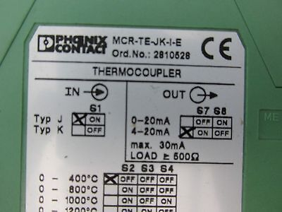 Phoenix Contact Mcr-te-jk-i-e Modular Converter Thermocouple