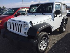 2017 Jeep Wrangler Sport 4WD SPORT 2-DOOR SOFT TOP, 3.6L V6 4X4