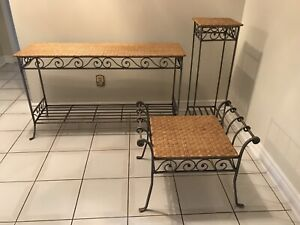 Pier 1 Wrought Iron Table and Seat Set