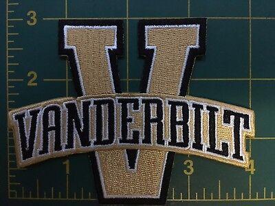 "Vanderbilt patch University  VU Commodores Vandy embroidered 4"" iron-on patch"