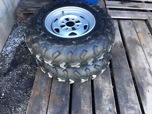 Front atv tires and rims for sale must go!