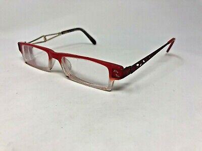 LOOKING GLASS 6020 Eyeglasses Frame N1816 49-17-135 Red/Clear Split CH61