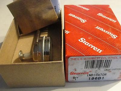 Starrett 196B1 Universal Dial Indicator, Back Plunger, White Dial, New!!!