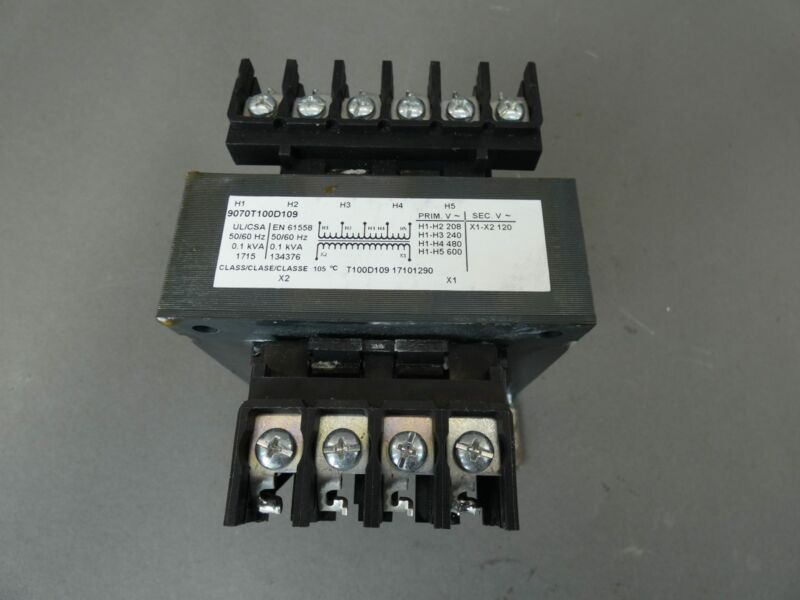 Square D 9070T100D109 Control Transformer, 0.1kVA, 50/60Hz - NEW Surplus!