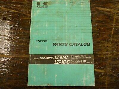 Kawasaki 85ziv 90ziv Wheel Loader Cummins Lt10-c Lta10-c Engine Parts Manual
