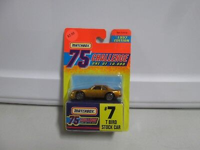 Used, Matchbox 75 Challenge 1997 Edition T Bird Stock Car  for sale  Shipping to Canada