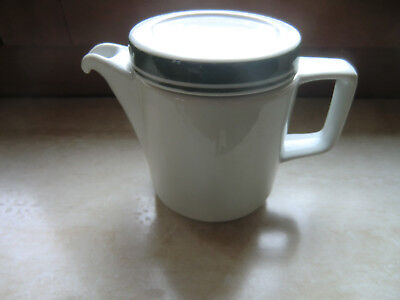 DDR Henneberg Porzellan Mitropa Kaffee Kännchen Kaffeekanne grün weiß 1 Stück