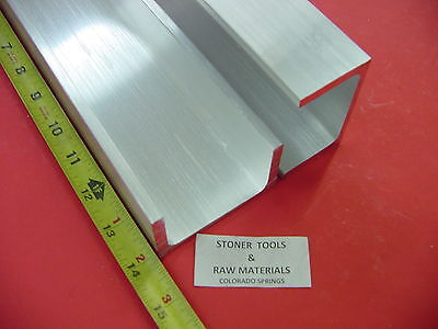 2 Pieces 3x 1.75 Aluminum Channel 6061 X .26 Flang 14 Long T6 Mill Stock