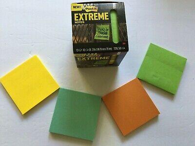 3m Post-it Extreme Notes 3x3 Orangegreenyellowmint 12 Pads X 45 Sheets 540