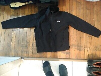 The North Face men's size large black Windstopper fleece lined zip up  -