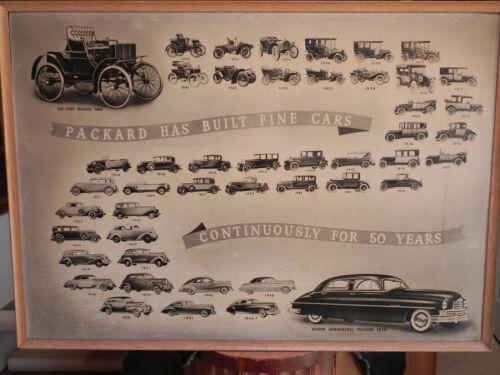 RARE Packard Dealer Golden Anniversary Showroom Poster 1949