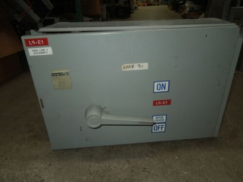 Eaton Cutler Hammmer M50as365r 400a 3p 600v Fusible Panelboard Switch (fdps365r)