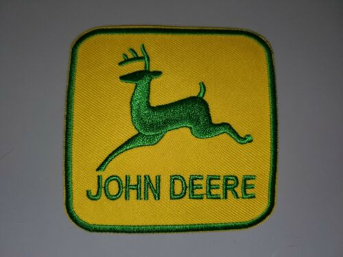 """JOHN DEERE YELLOW AND GREEN EMBROIDERED IRON ON PATCHES 3""""X3"""""""