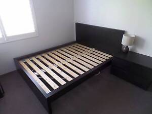 IKEA MALM queen bed frame + chest of drawers Wollstonecraft North Sydney Area Preview
