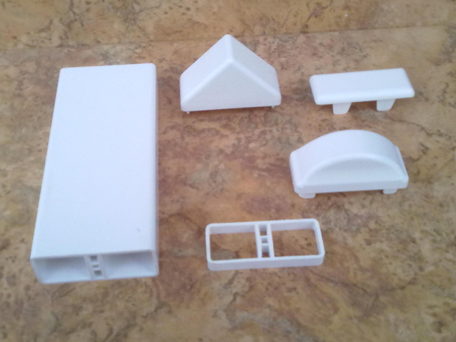 Muster 1A Kunststoff Zaunlatte Zaunbrett 60x25x2mm weiß Zaun, Balkon, Geländer