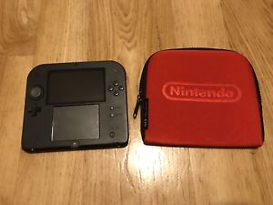 Nintendo 2DS Red/Black with Case