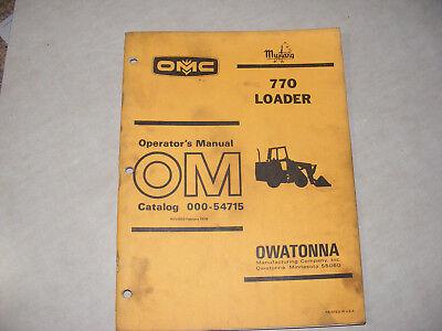 Mustang Omc 770 Skid Steer Loader Operators Manual