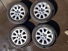 Set of Wheels and Tires from a 2005 Volkswagen Golf Fulham Gardens Charles Sturt Area Preview