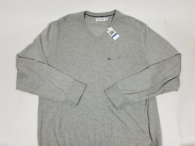 Nautica Mens Grey V-Neck Shirt Pullover Sweater XL NWT