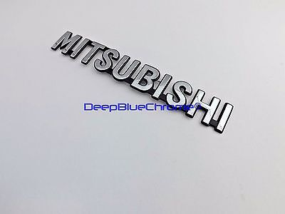 (Mitsubishi Chrome Emblem Outlander Sport Endeavor OEM Letters Rear Trunk Badge )